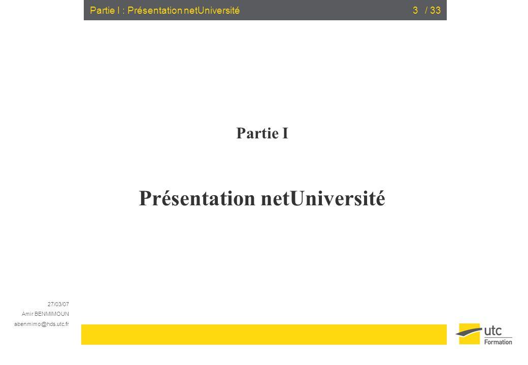 Présentation netUniversité