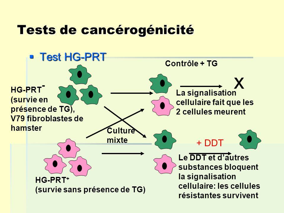 Tests de cancérogénicité
