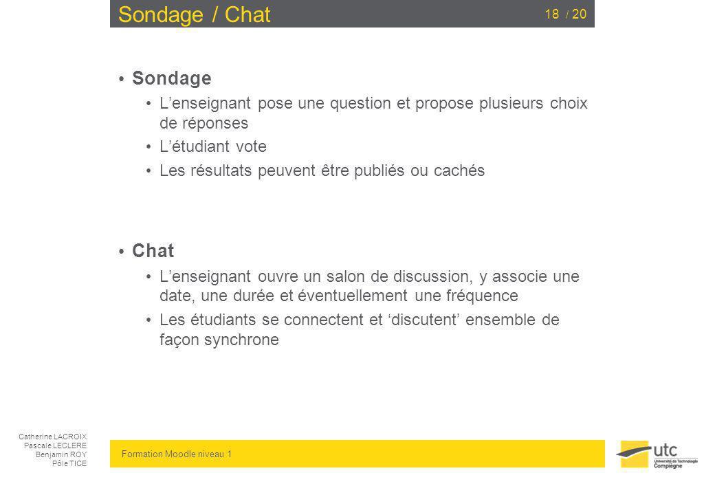 Sondage / Chat Sondage Chat