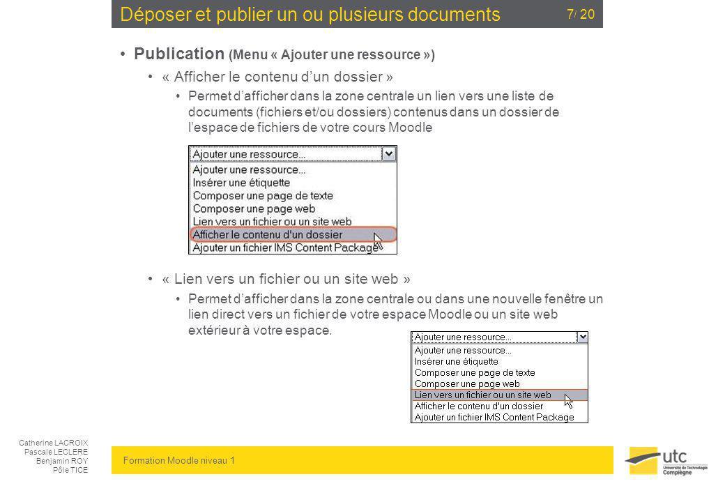 Déposer et publier un ou plusieurs documents