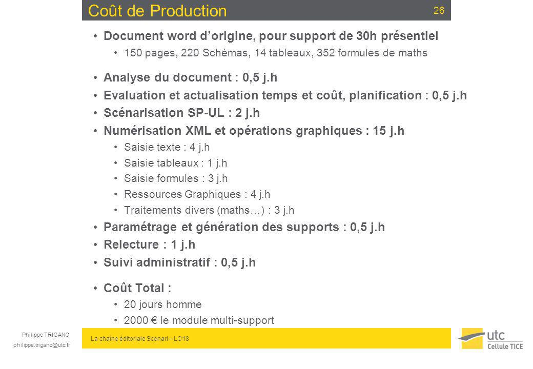 Coût de Production Document word d'origine, pour support de 30h présentiel. 150 pages, 220 Schémas, 14 tableaux, 352 formules de maths.