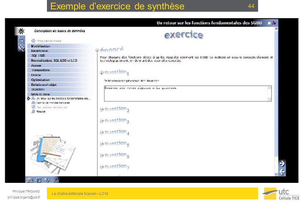 Exemple d'exercice de synthèse