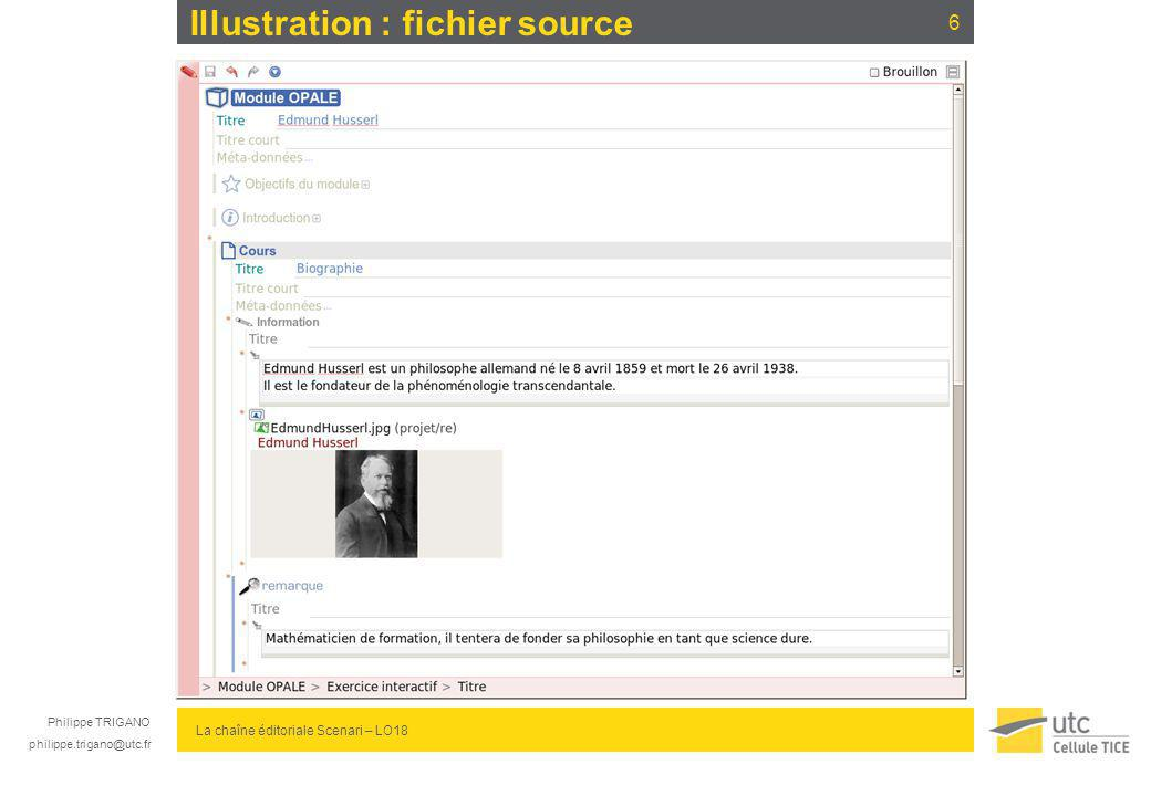 Illustration : fichier source