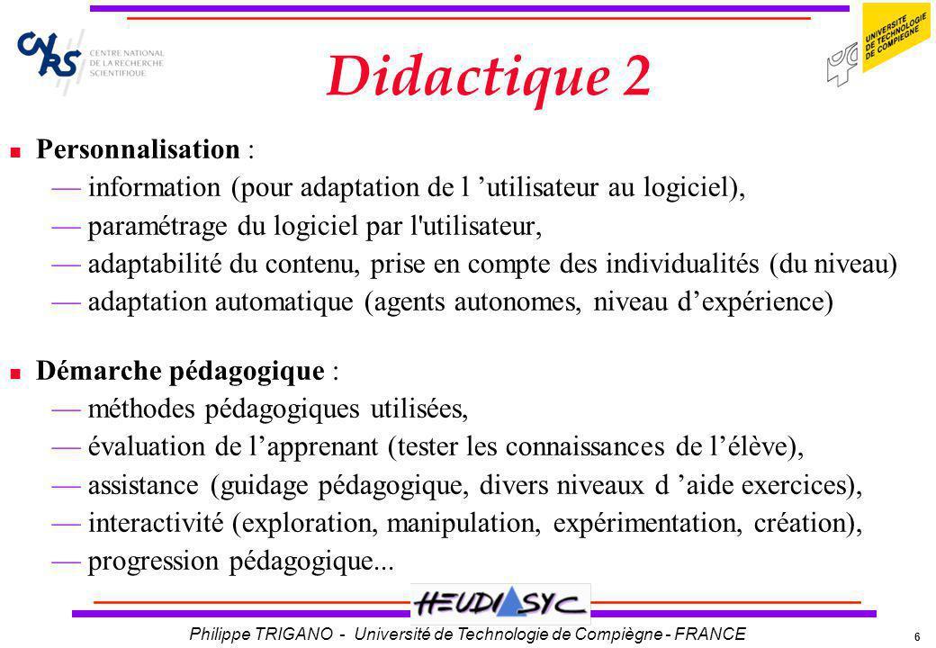 Didactique 2 Personnalisation :