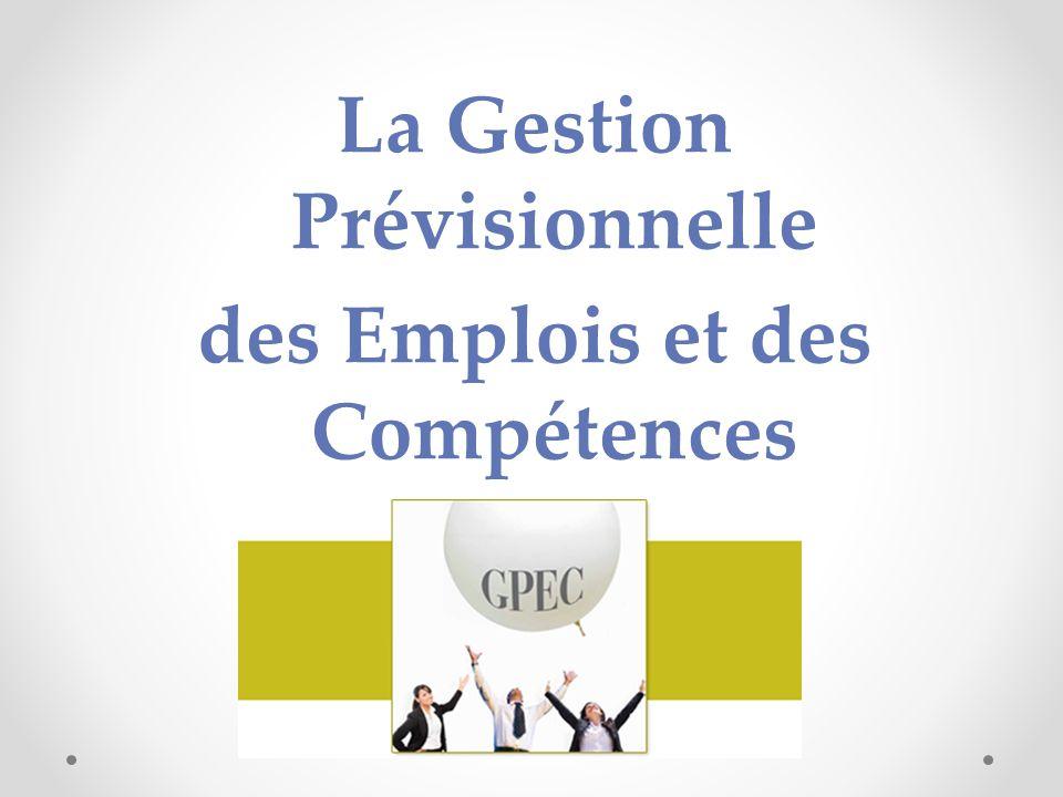 La Gestion Prévisionnelle des Emplois et des Compétences GPEC
