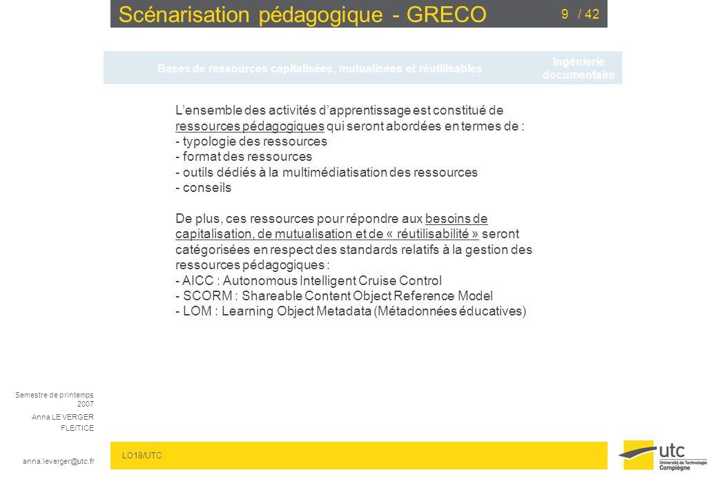 Scénarisation pédagogique - GRECO
