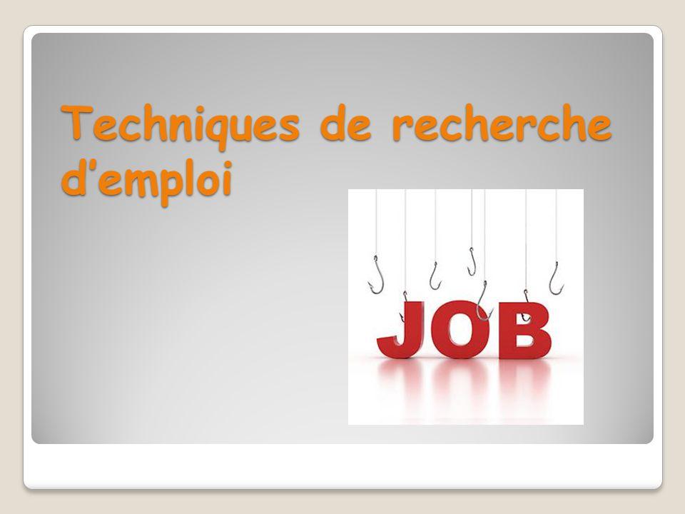 Techniques de recherche d'emploi