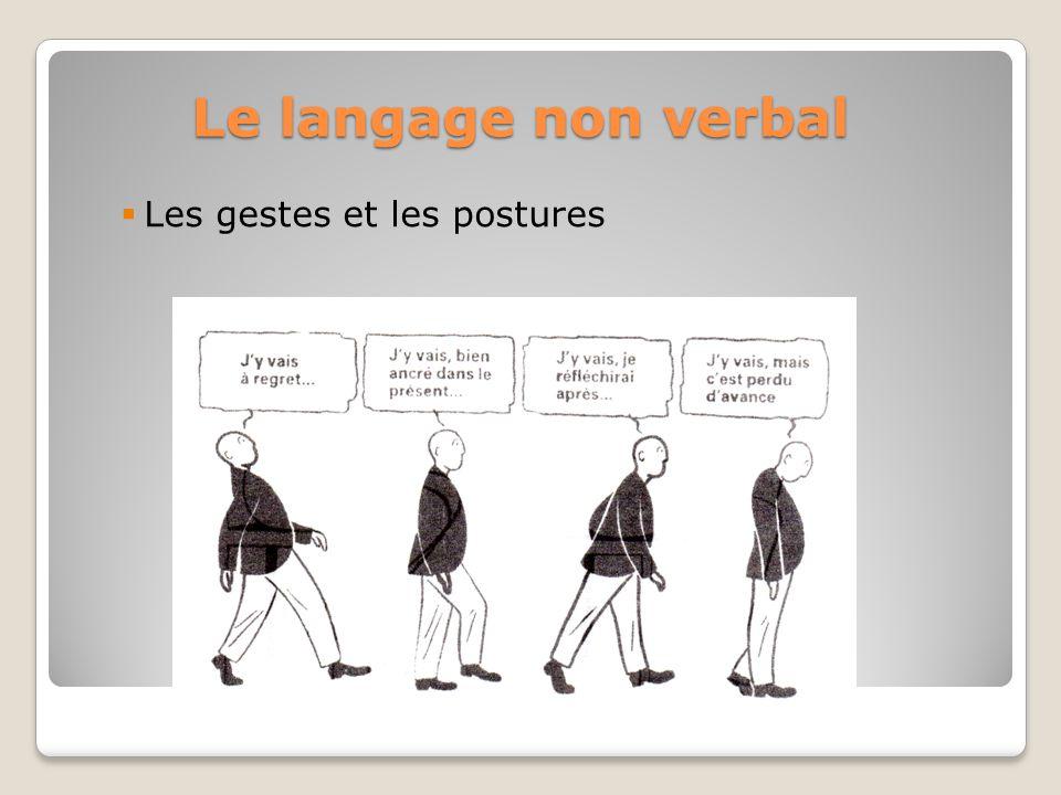 Le langage non verbal Les gestes et les postures