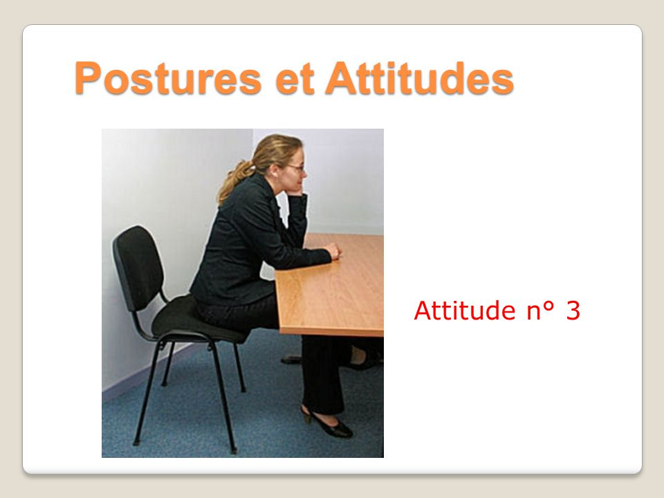 Postures et Attitudes Attitude n° 3