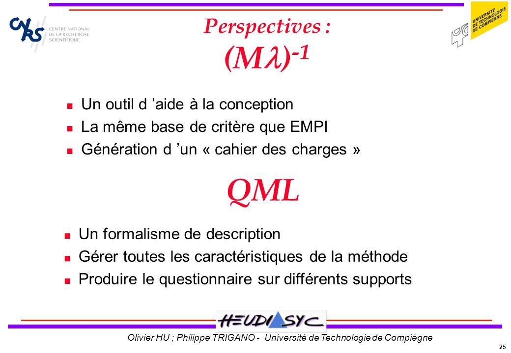 QML Perspectives : (M)-1 Un outil d 'aide à la conception