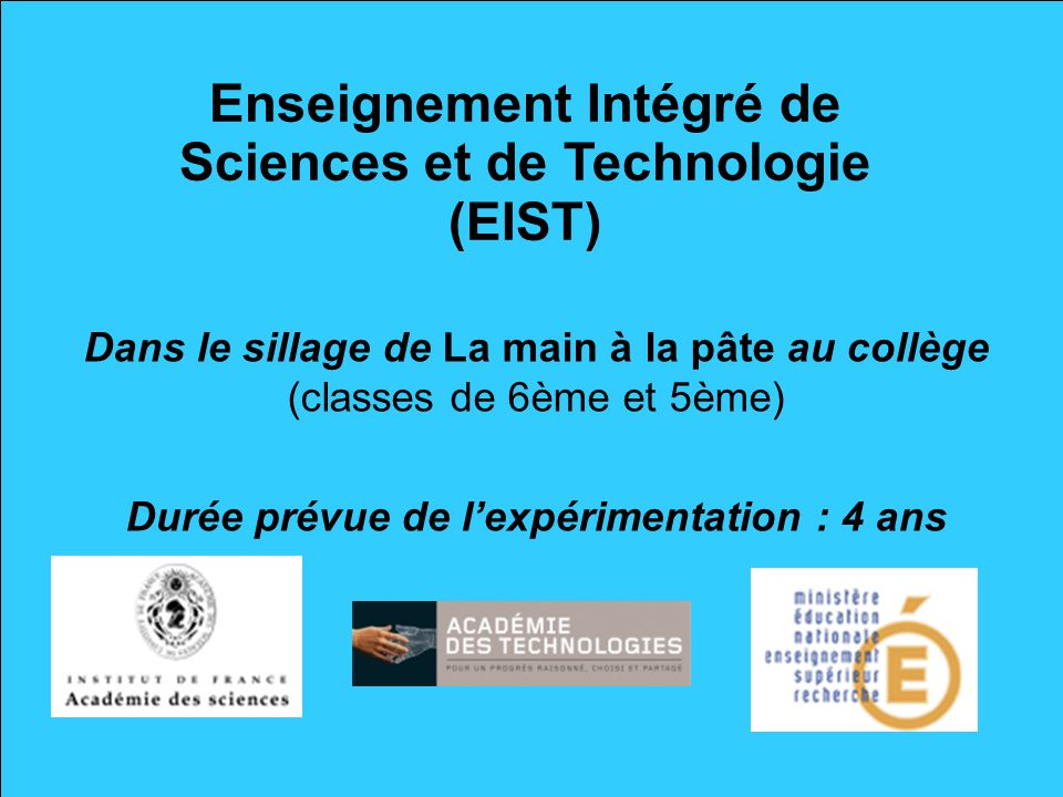 Enseignement Intégré de Sciences et de Technologie (EIST)