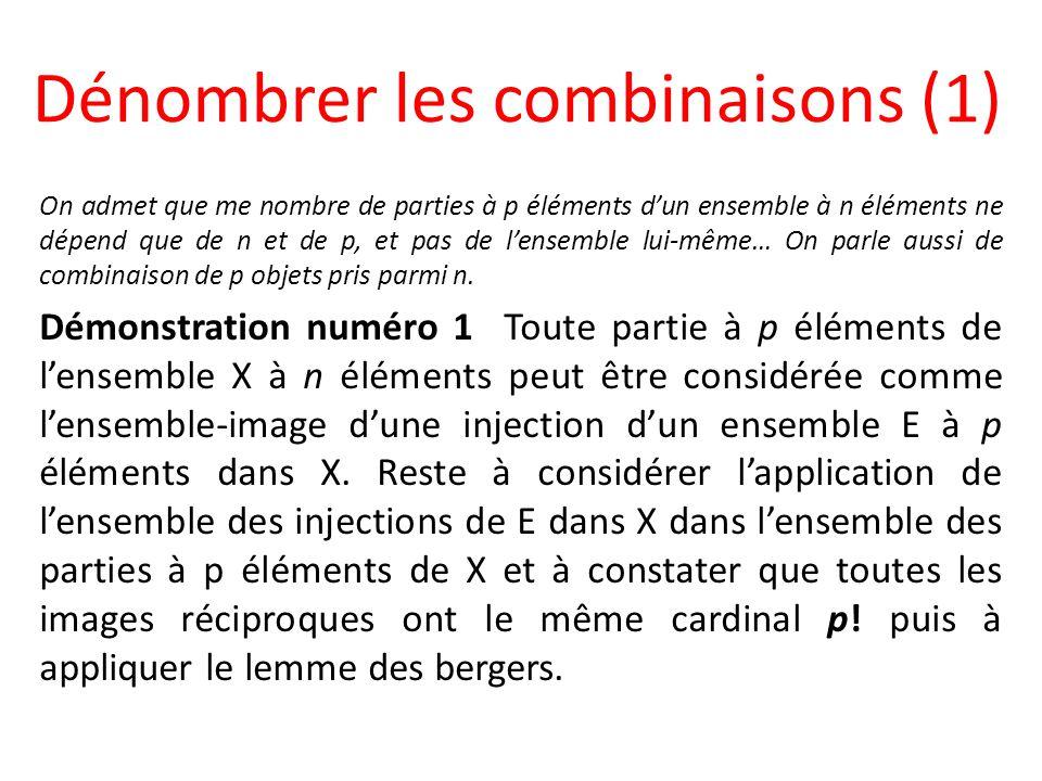 Dénombrer les combinaisons (1)