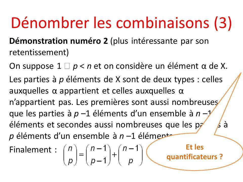 Dénombrer les combinaisons (3)