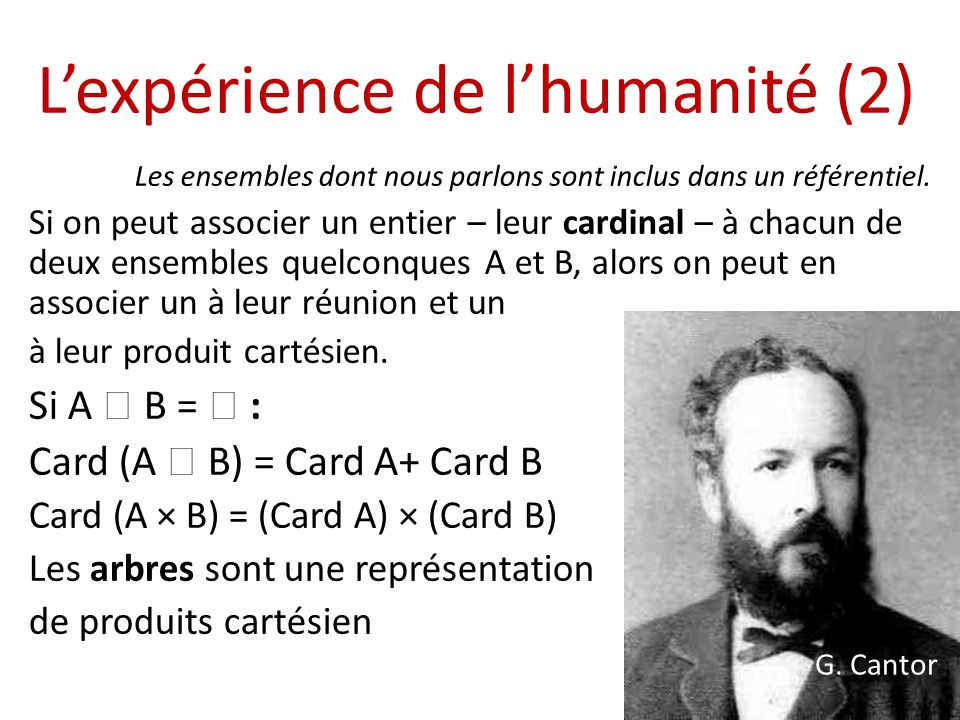 L'expérience de l'humanité (2)