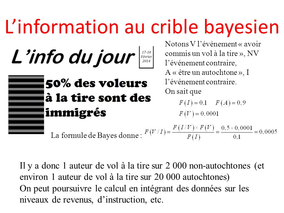 L'information au crible bayesien