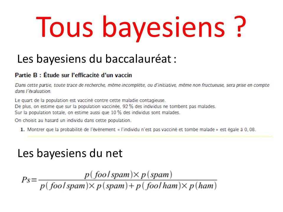 Tous bayesiens Les bayesiens du baccalauréat : Les bayesiens du net