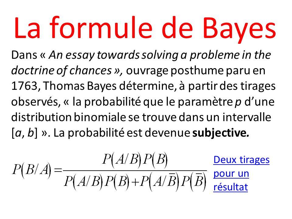 La formule de Bayes