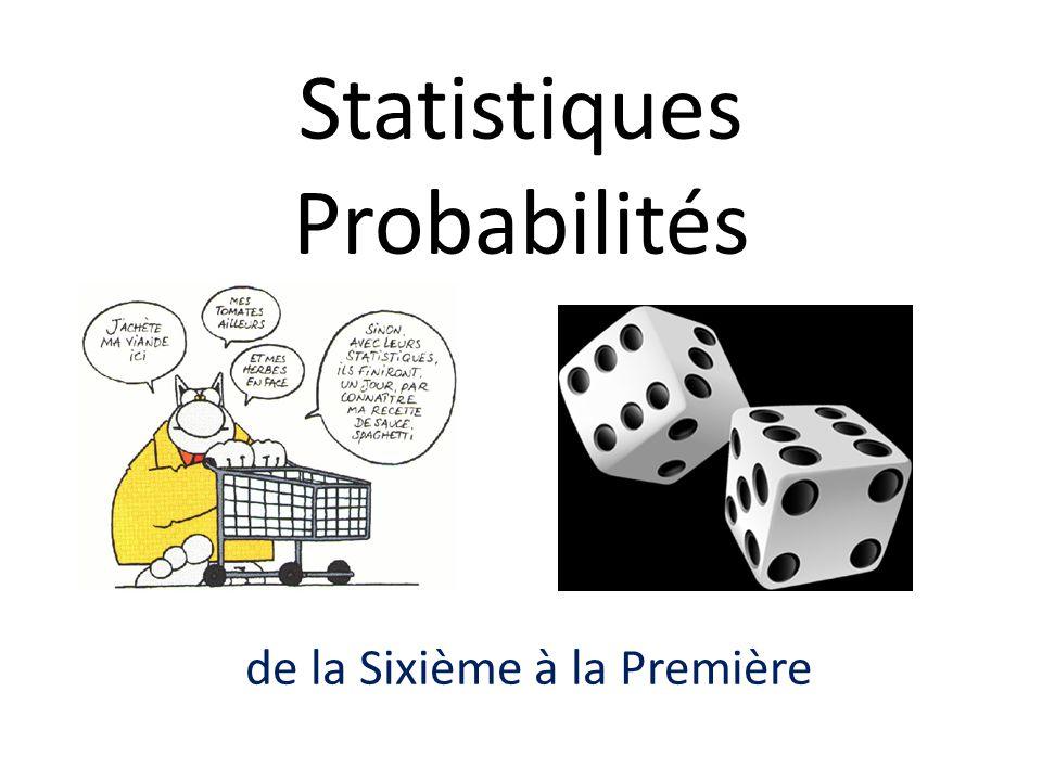 Statistiques Probabilités
