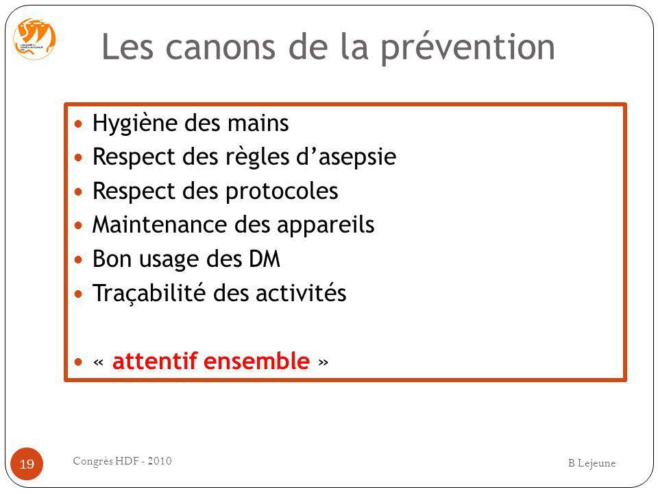 Les canons de la prévention