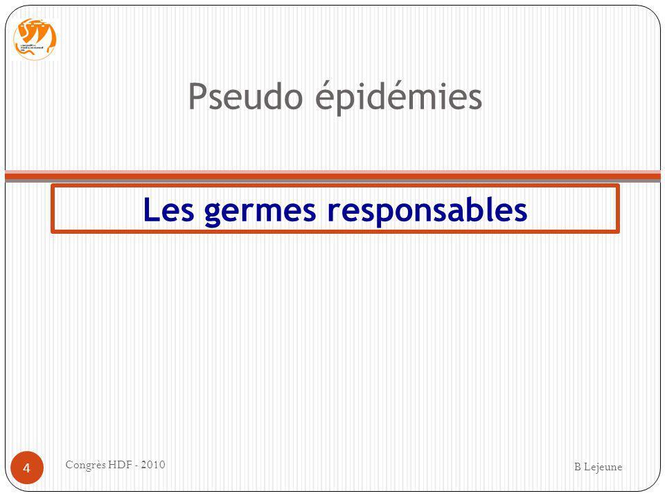 Les germes responsables