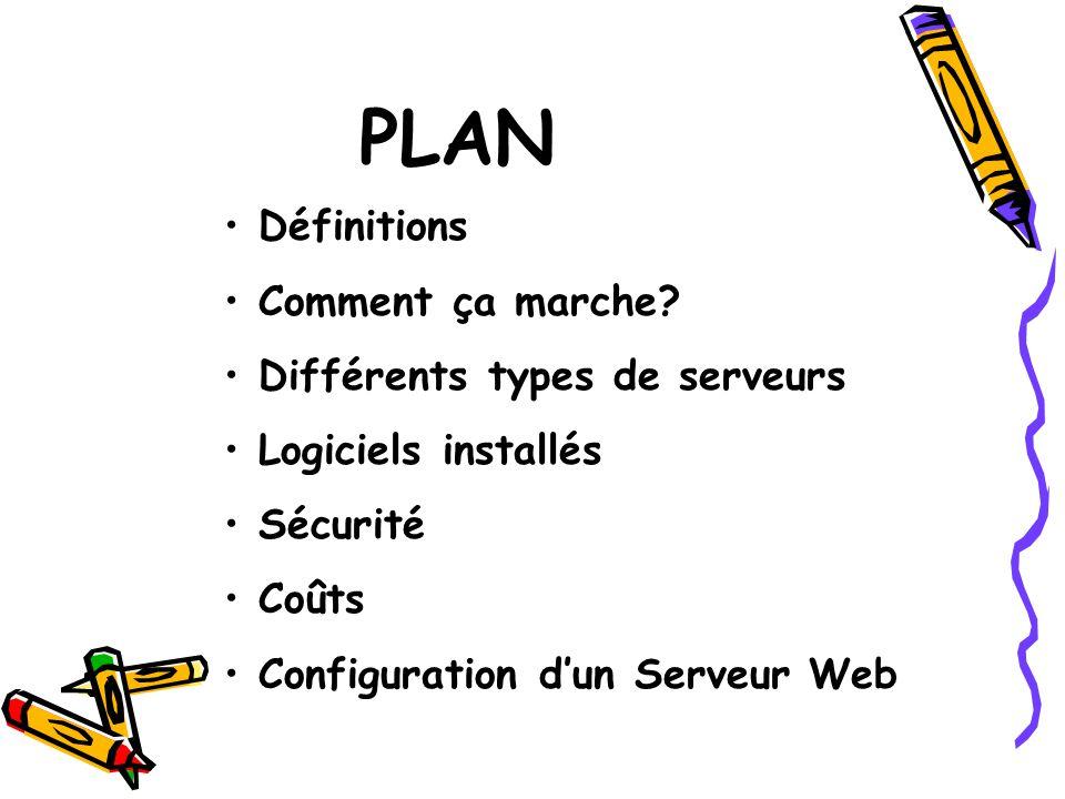 PLAN Définitions Comment ça marche Différents types de serveurs