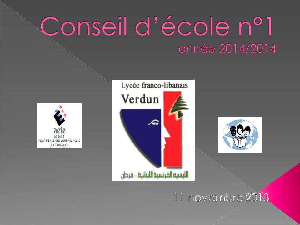 Conseil d'école n°1 année 2014/2014