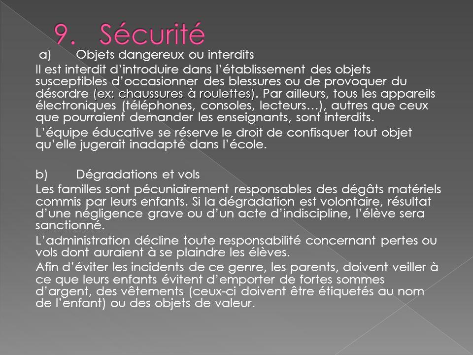 9. Sécurité