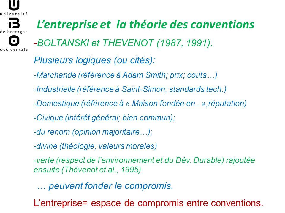 L'entreprise et la théorie des conventions