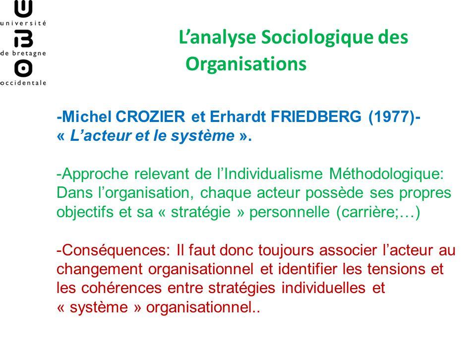 L'analyse Sociologique des Organisations