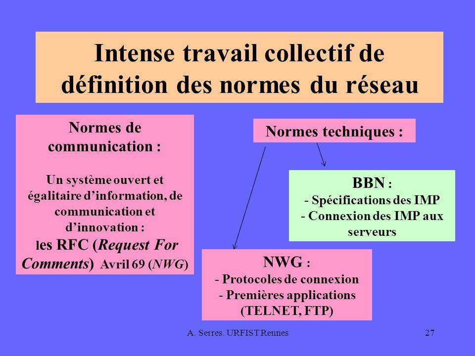 Intense travail collectif de définition des normes du réseau