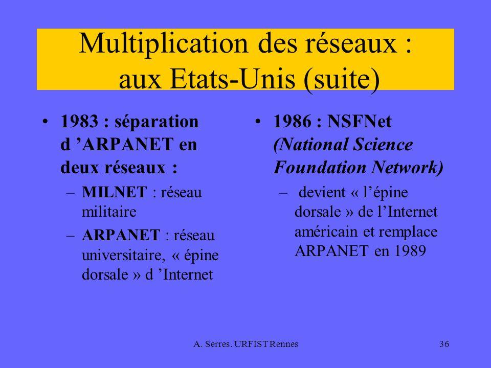 Multiplication des réseaux : aux Etats-Unis (suite)