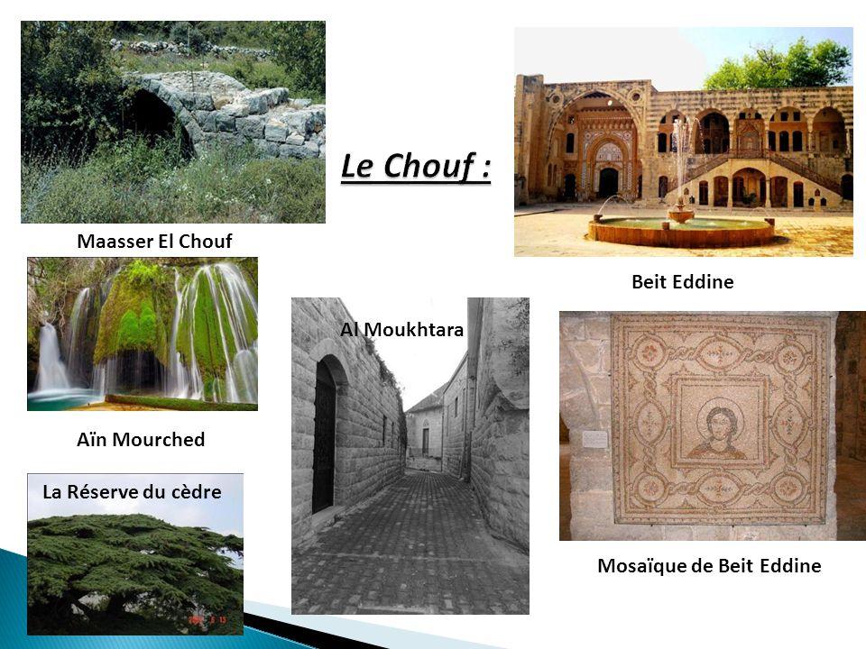 Le Chouf : Maasser El Chouf Beit Eddine Al Moukhtara Aïn Mourched
