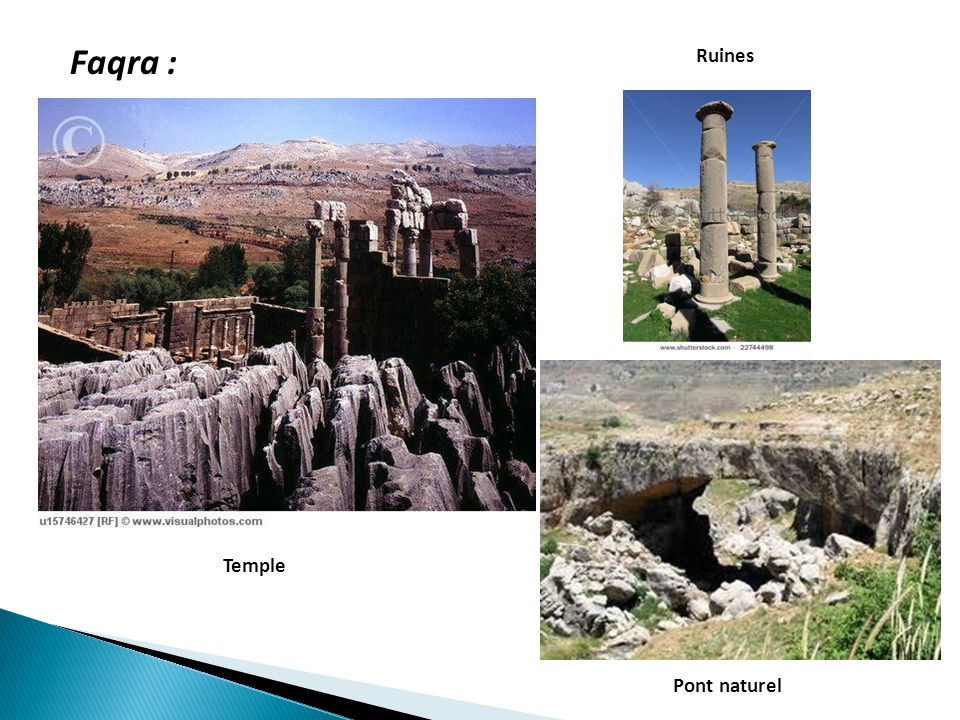 Faqra : Ruines Temple Pont naturel