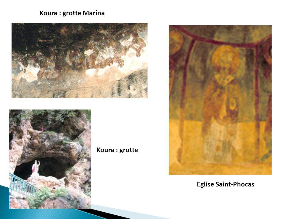 Koura : grotte Marina Koura : grotte Eglise Saint-Phocas