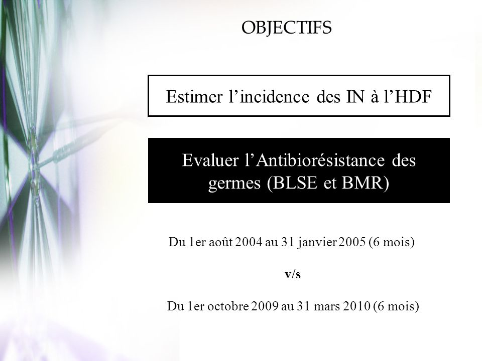 Estimer l'incidence des IN à l'HDF