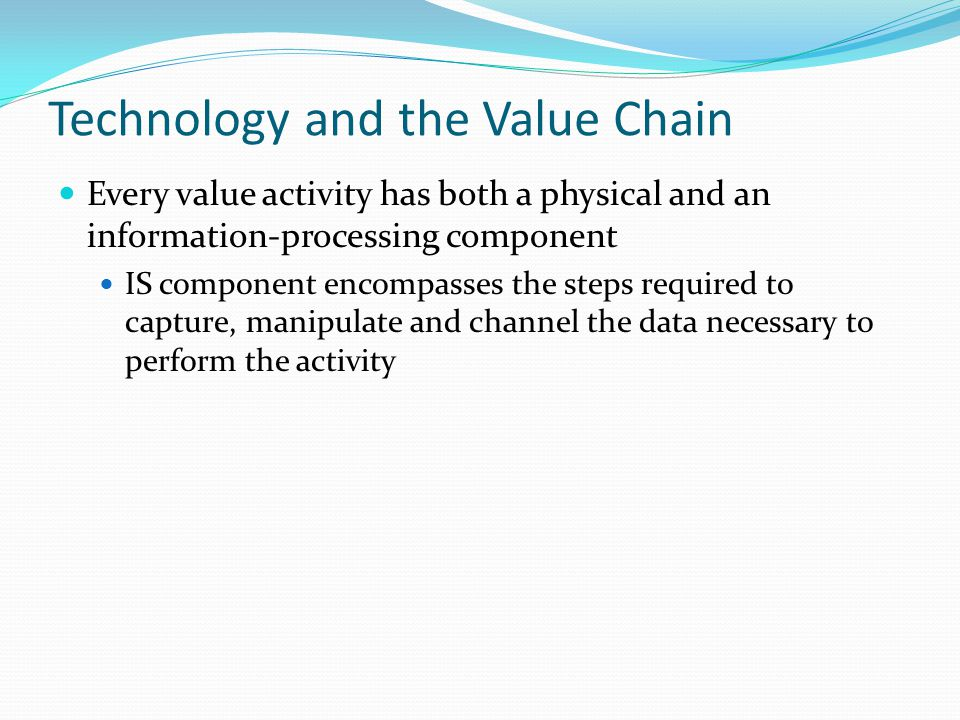 Technology and the Value Chain
