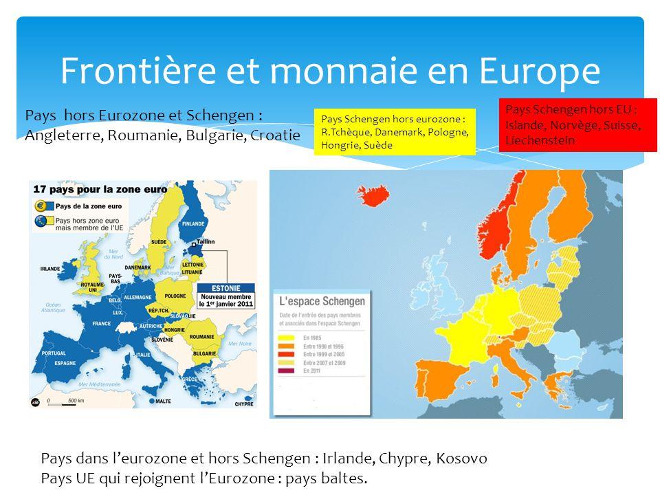 Frontière et monnaie en Europe