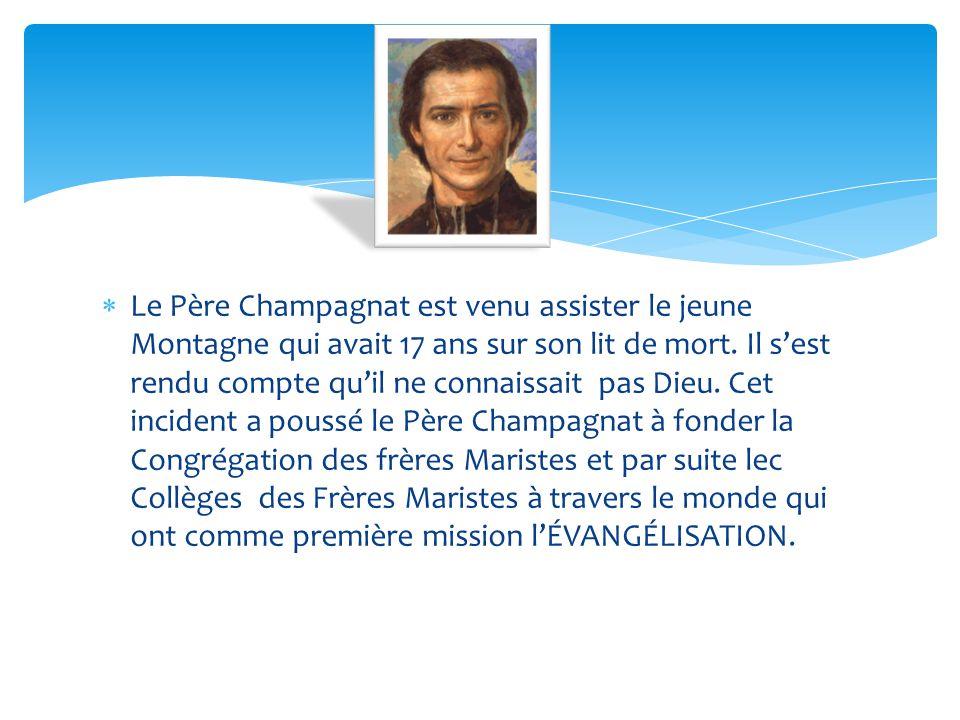 Le Père Champagnat est venu assister le jeune Montagne qui avait 17 ans sur son lit de mort.