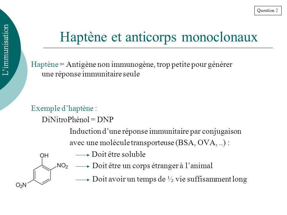 Haptène et anticorps monoclonaux
