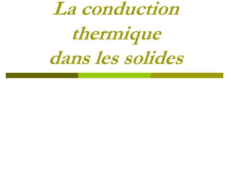 La conduction thermique dans les solides