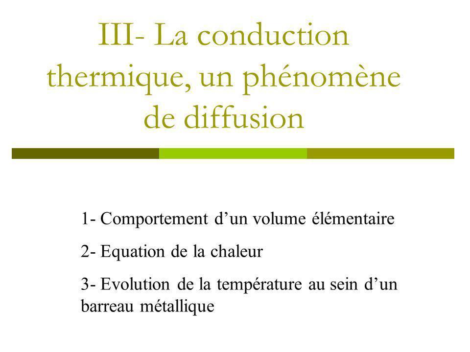 III- La conduction thermique, un phénomène de diffusion