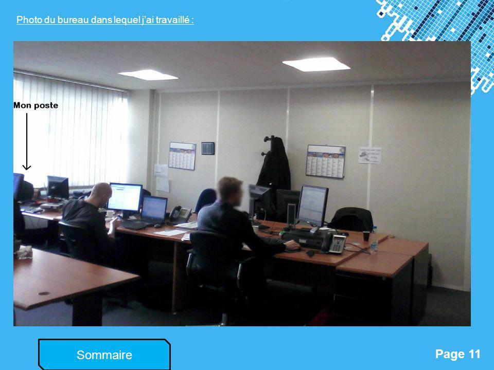 Photo du bureau dans lequel j'ai travaillé :