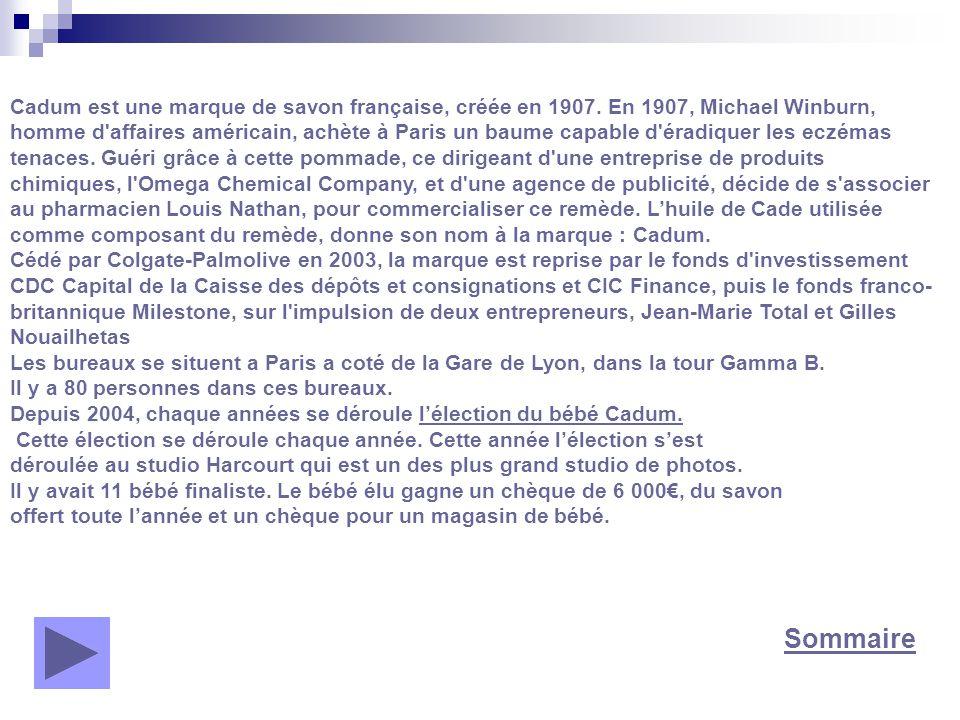 Cadum est une marque de savon française, créée en 1907