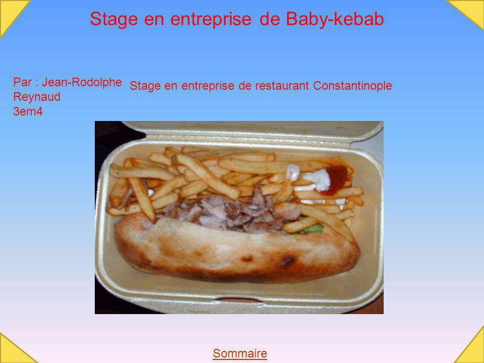Stage en entreprise de Baby-kebab