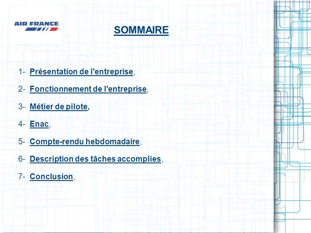 SOMMAIRE 1- Présentation de l entreprise,