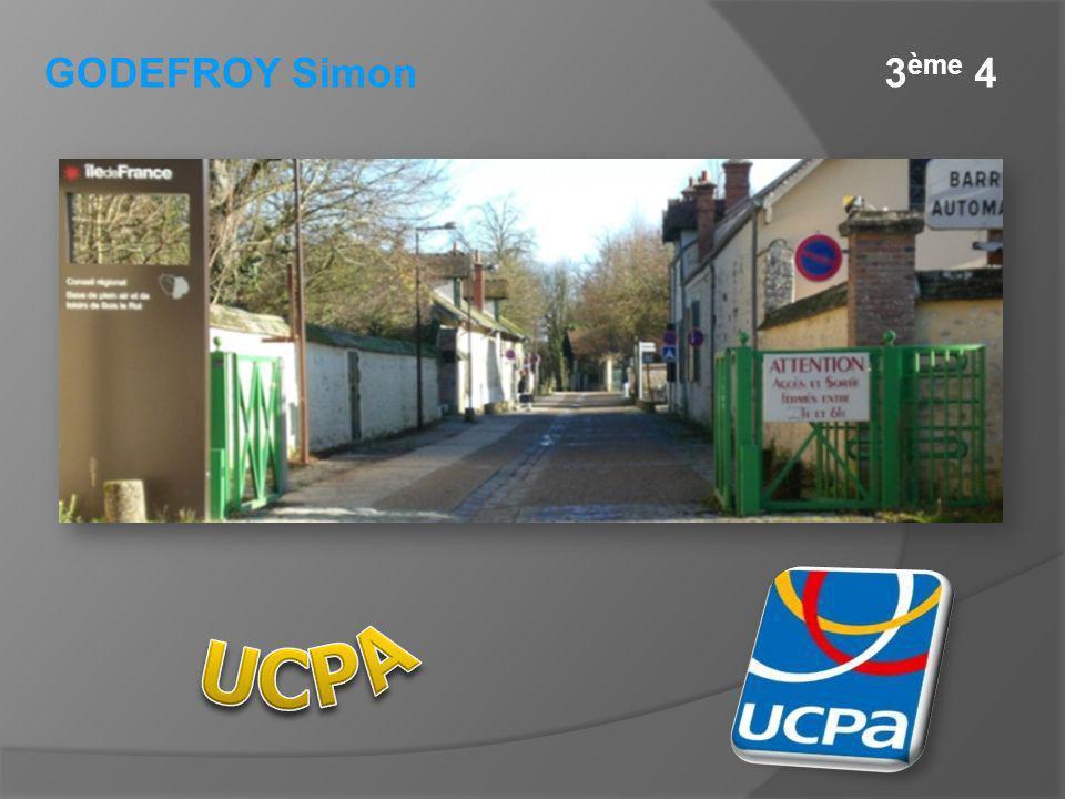 GODEFROY Simon 3ème 4 UCPA