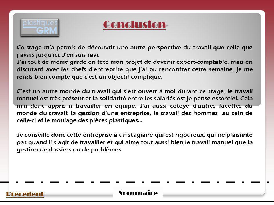 Conclusion Sommaire Précédent