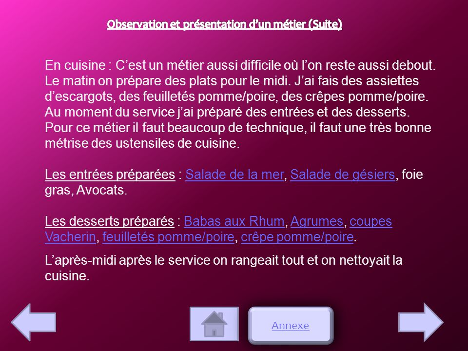 Restaurant le chalet rapport de stage de gayette alena 3 me 5 ppt video online t l charger - Rapport de stage en cuisine ...