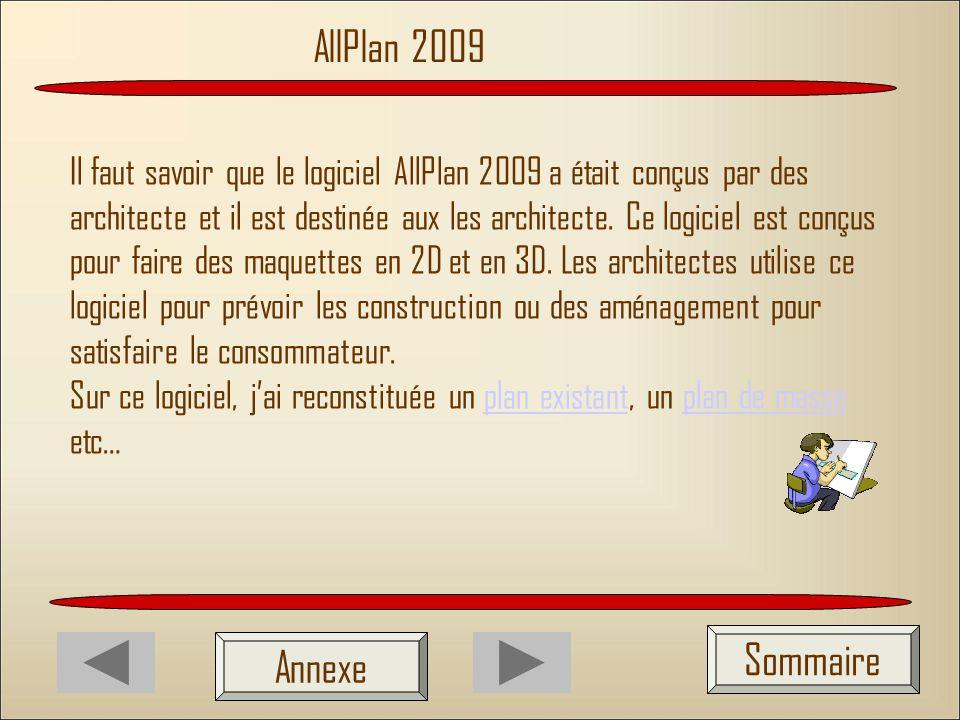 AllPlan 2009 Sommaire Annexe