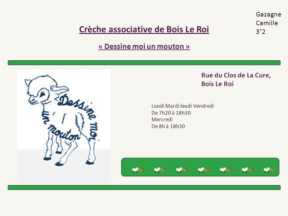 Crèche associative de Bois Le Roi « Dessine moi un mouton »